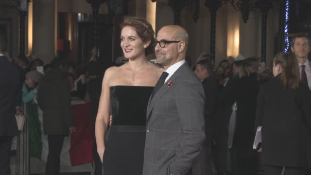 Stanley Tucci Felicity Blunt at 'The Hunger Games Mockingjay Part 2' UK Film Premiere at Odeon Leicester Square on November 5 2015 in London England