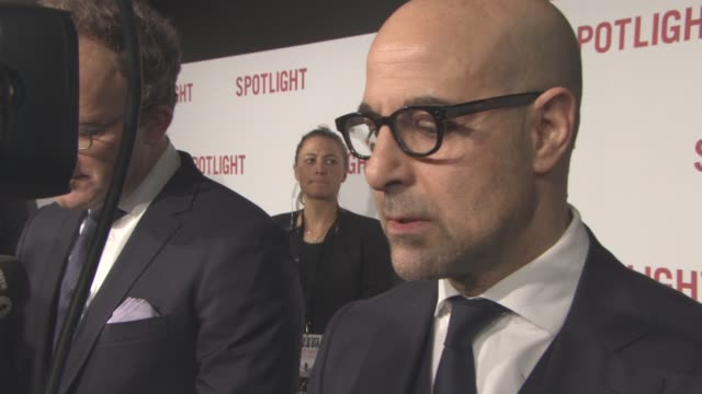 INTERVIEW Stanley Tucci on being involved in the story what he know before becoming a part of the film at Spotlight UK film premiere on January 20...