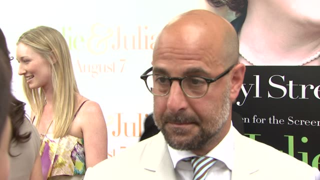 Stanley Tucci on Julia Child on his role playing her husband Paul Child and on what he learned about Child through the movie at the 'Julie Julia'...