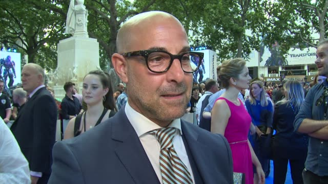 stanley tucci on michael bay and transformers on june 18 2017 in london england - transformer stock videos & royalty-free footage