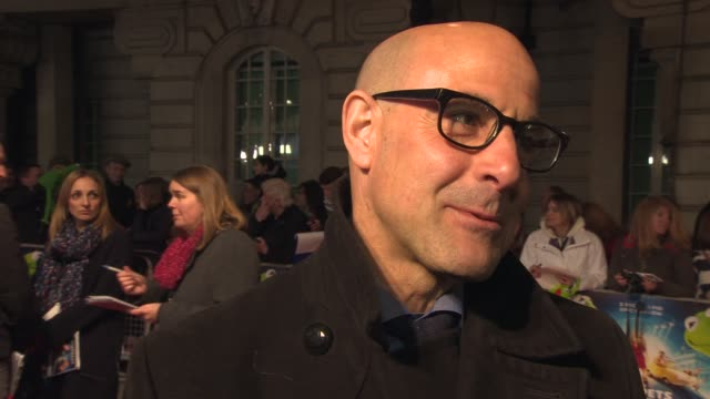 INTERVIEW Stanley Tucci on working with The Muppets the universal appeal at 'The Muppets Most Wanted' VIP Gala Screening at The Curzon Mayfair on...