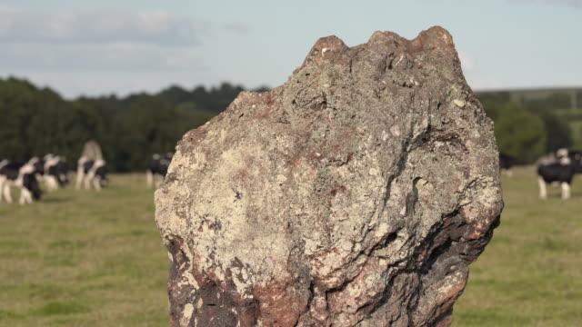 夏の午後のスタントン・ドリュー・ストーンサークル - イングランド南西部点の映像素材/bロール