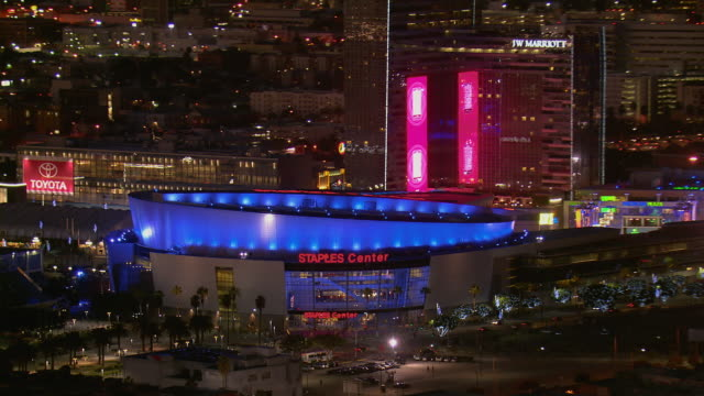 staples center arena in los angeles - staples center stock videos & royalty-free footage