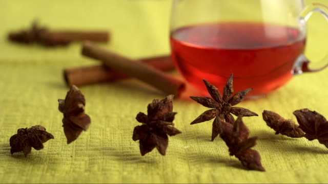 star anise dancing and turning - spice stock videos & royalty-free footage