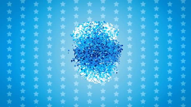 Blaue Sterne Partikel