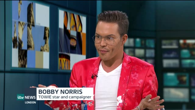 vídeos y material grabado en eventos de stock de towie star bobby norris interview on his campaign to make online homophobic abuse a crime england london gir int bobby norris studio interview sot - telerrealidad