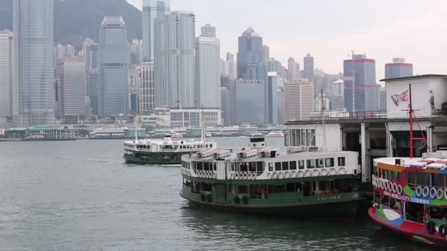A Star Ferry Co vessel owned by Wharf Holdings Ltd is docked at the Star Ferry Terminal in the Tsimshatsui district of Hong Kong China on Thursday...