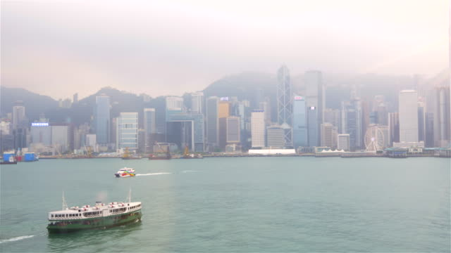 WS Star Ferry crossing Victoria Harbor