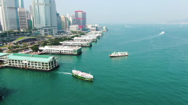 star ferry crossing victoria harbour - star ferry stock videos & royalty-free footage