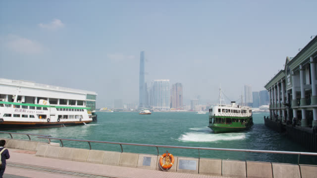star ferry pier hongkong - star ferry stock videos & royalty-free footage