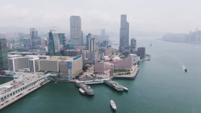 stockvideo's en b-roll-footage met star ferry pier in tsim sha tsui - star ferry