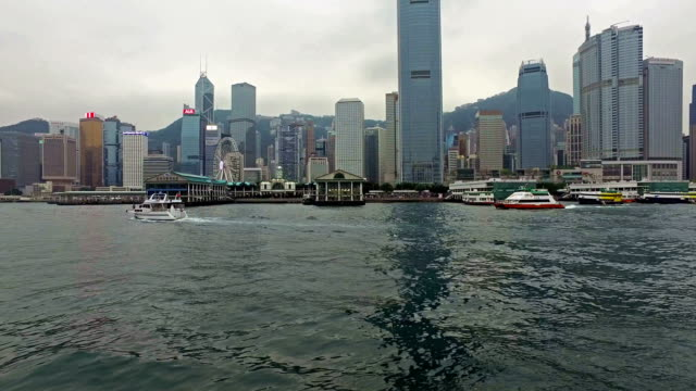 Star ferry point of view in Hong Kong