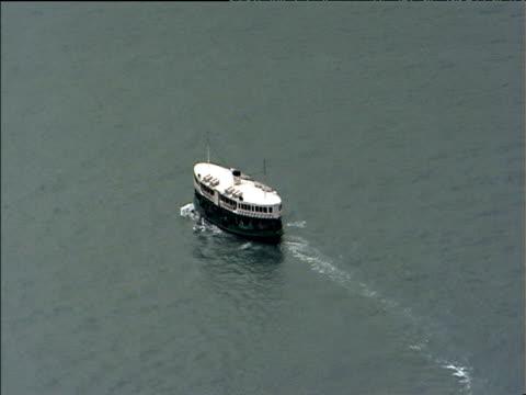 Star Ferry sails across Victoria Harbour Hong Kong