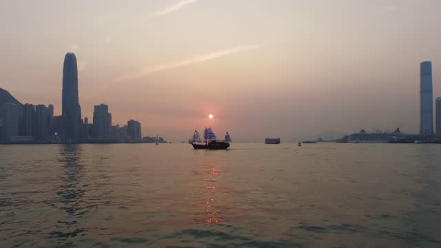 star ferry that crosses the victoria harbor in hong kong - star ferry stock videos & royalty-free footage