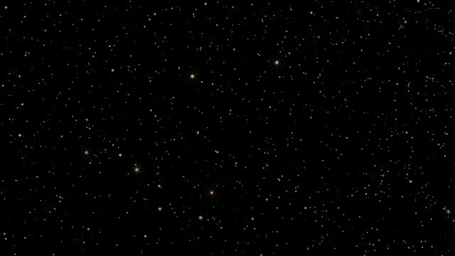 a star field twinkles in a night sky - constellation stock videos & royalty-free footage