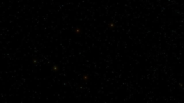 A star field twinkles in a night sky (Loop).