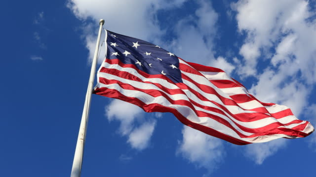 13 star flag of the united states - betsy ross house video stock e b–roll
