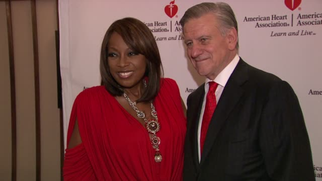 star jones and dr. valentin fuster at the star jones attends 'celebrity apprentice' premiere for american heart association at new york ny. - star jones stock videos & royalty-free footage