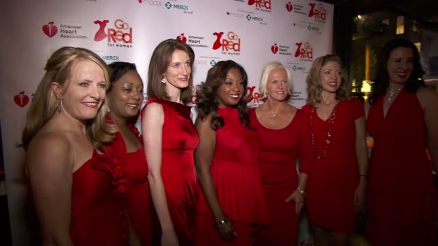 star jones and guests at the elizabeth banks and go red for women premiere party for 'just a little heart attack' short film - star jones stock videos & royalty-free footage