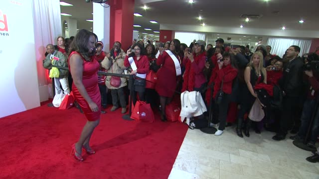 star jones at aha's go red for women national wear red day at macy's at macy's herald square on 02/03/12 in new york - macy's herald square stock videos and b-roll footage