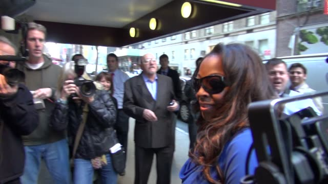 Star Jones at Harvey Weinstein's Giants Super Bowl Pep Rally in New York on 2/1/2012