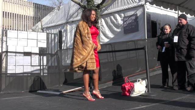 star jones at mercedes-benz fashion week in new york on 2/14/2012 - star jones stock videos & royalty-free footage
