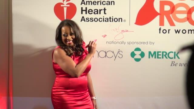 star jones at the american heart association's 'go red for women' luncheon in new york on 2/3/2012 - star jones stock-videos und b-roll-filmmaterial