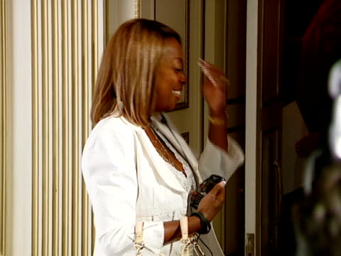 star jones at the blackberry curve from at&t u.s. launch party at beverly hills california. - curve stock videos & royalty-free footage