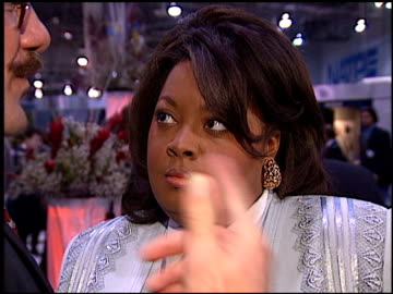 stockvideo's en b-roll-footage met star jones at the natpe 96 at las vegas sands convention center in las vegas, nevada on january 22, 1996. - natpe convention