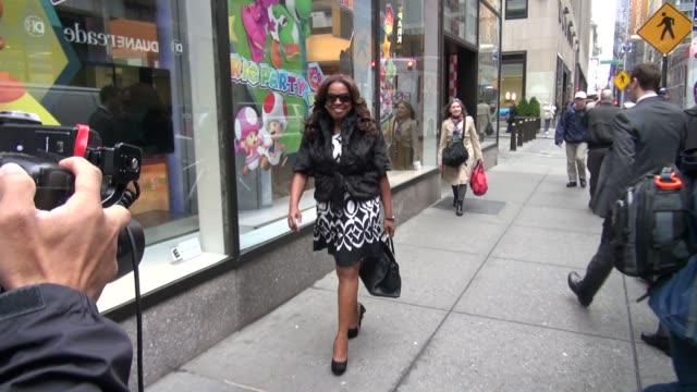 star jones at the nbc studios in new york, ny, on 3/13/2012 - star jones stock videos & royalty-free footage