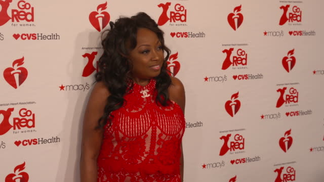 star jones at the the american heart association's go red for women red dress collection 2019 at hammerstein ballroom on february 07, 2019 in new... - star jones stock videos & royalty-free footage