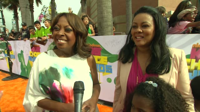 star jones & lela rochon on why they wanted to attend, looking forward to seeing willow perform and if they are nervous about the slime. at the... - star jones stock videos & royalty-free footage