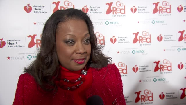 INTERVIEW Star Jones on being a heart healthy survivor at the American Heart Association Go Red For Women 10th Year Celebration on in New York NY