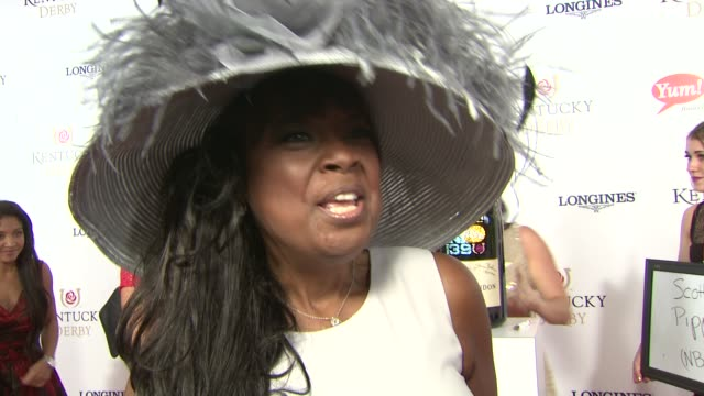 INTERVIEW Star Jones on finding the appropriate hat for the event on making a toast at Moet Chandon Toasts The 139th Kentucky Derby at Churchill...