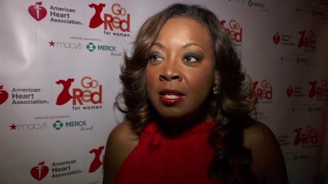 star jones on finding the humor in life at the elizabeth banks and go red for women premiere party for 'just a little heart attack' short film - star jones stock videos & royalty-free footage