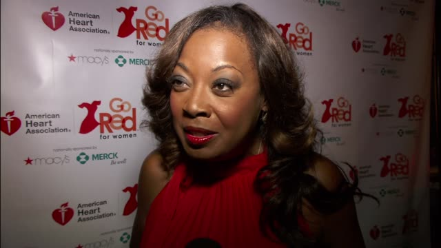 star jones on heart disease at the elizabeth banks and go red for women premiere party for 'just a little heart attack' short film - star jones stock videos & royalty-free footage
