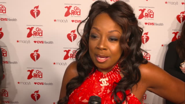 star jones on reasons for attending and everything the event does to fight heart disease at the the american heart association's go red for women red... - star jones stock videos & royalty-free footage