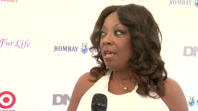 INTERVIEW Star Jones on supporting Russell and the cause at 15th Annual Art For Life Gala at Fairview Farms on July 26 2014 in Bridgehampton New York