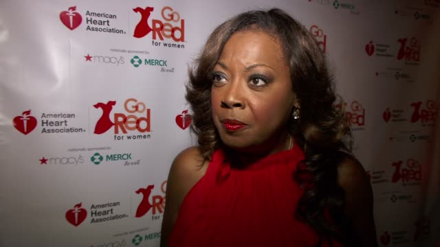 star jones on the importance of heart health at the elizabeth banks and go red for women premiere party for 'just a little heart attack' short film - star jones stock videos & royalty-free footage