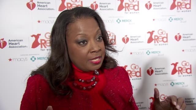 INTERVIEW Star Jones on wearing red for the month at the American Heart Association Go Red For Women 10th Year Celebration on in New York NY
