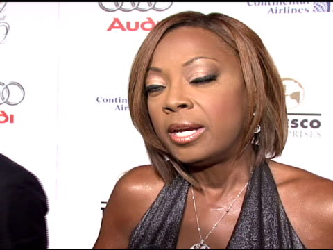 star jones on what brings her out tonight, her involvement with the foundation, what about denise rich is so inspiring, her hopes for a cure, and... - star jones stock videos & royalty-free footage