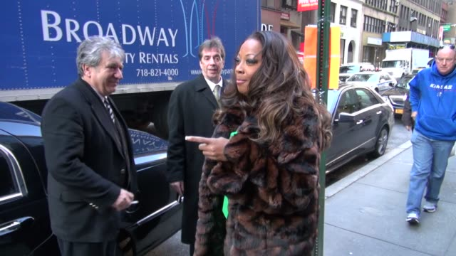 star jones outside the today show 01/24/12 in celebrity sightings in new york - star jones stock videos & royalty-free footage