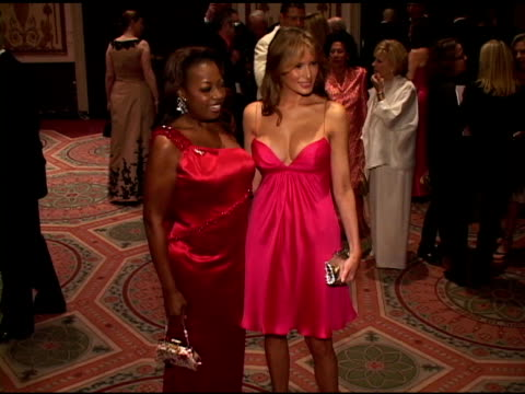 star jones-reynolds and melanie trump at the breast cancer research foundations annual hot pink party at the waldorf astoria in new york, new york on... - star jones stock videos & royalty-free footage