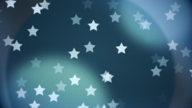 stockvideo's en b-roll-footage met ster van deeltjes bewegende loopable - star shape