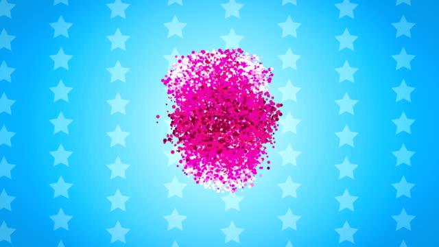 Sterne lila Teilchen