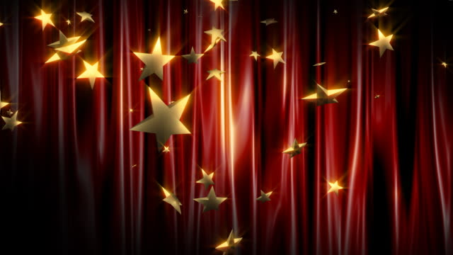 star rain in front of the red curtain - shiny stock videos & royalty-free footage