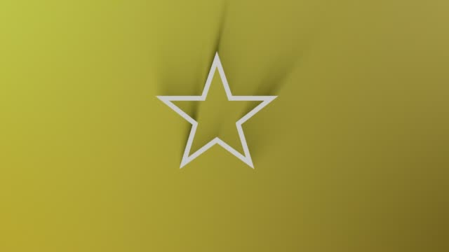 star symbol while shadow passes all around on yellow background in 4k resolution loop ready file - celebrities stock videos & royalty-free footage
