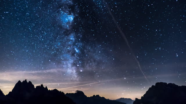 Star Time Lapse, Milky Way Galaxy Moving Across the Night Sky