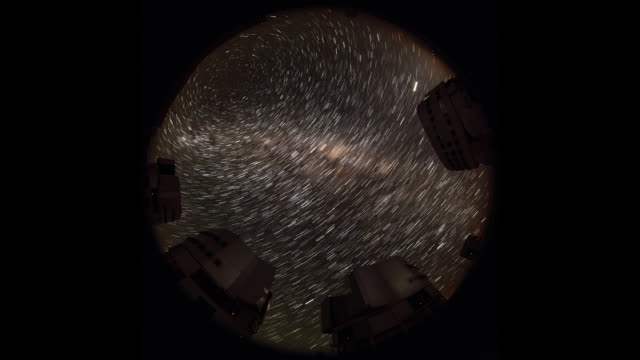 star trail above paranal observatory - cerro paranal stock videos and b-roll footage