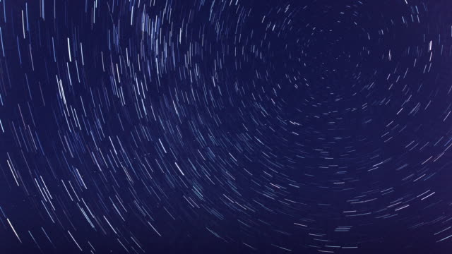 star trail of milky way, multi-exposure - モンテビデオ点の映像素材/bロール